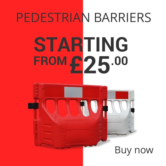 Buy pedestrian barriers from £25 at TennantsTraffic