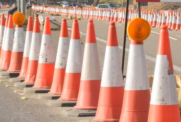 Traffic cones and lamps