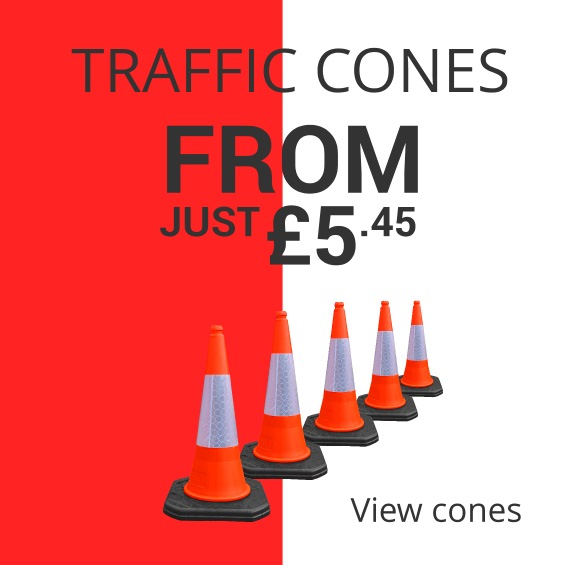 Get traffic cones from just £6 at TennantsTraffic