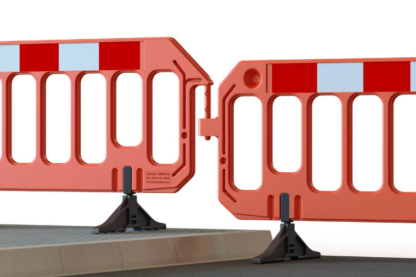 A Gate Barrier showing kerb levels and its connectors