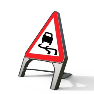 750mm Slippery Road Q-Sign
