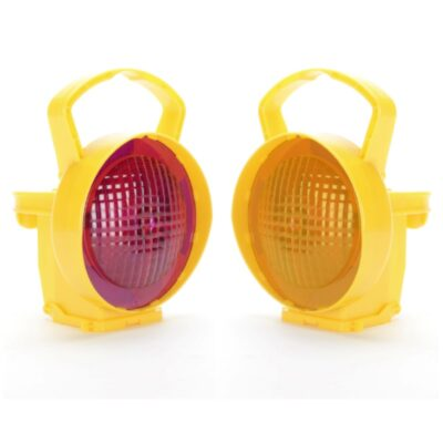 A Magenta and Amber ConiLamp Warning Lamp