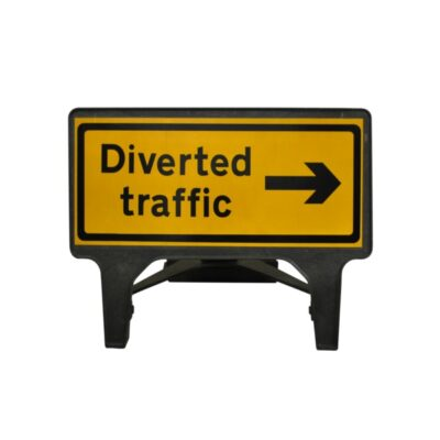 1050mm Diverted Traffic Right Q-Sign