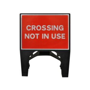 600mm Crossing Not In Use Q-Sign