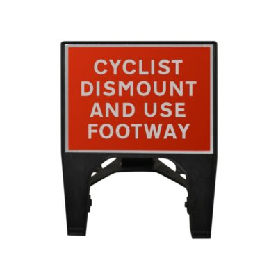 600mm Cyclist Dismount And Use Footway Q-Sign