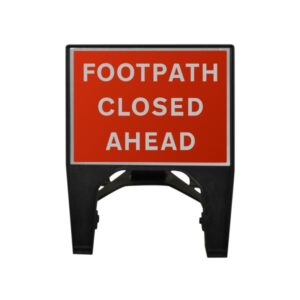 600mm Footpath Closed Ahead Q-Sign