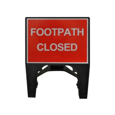 600mm Footpath Closed Q-Sign