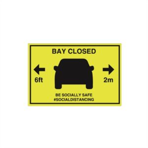 Parking Bay Closed Sign