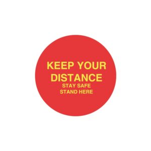 Red Keep Your Distance Sticker