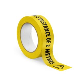 Yellow 2m Social Distancing Tape