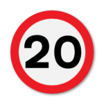 20mph-Speed-Limit-Sign-in-RA2-on-Composite-with-Rails