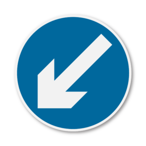 Keep Left Road Sign in RA2 on Composite with Rails