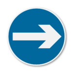 One-Way-Round-Road-Sign-in-RA3b-on-Composite-with-Rails
