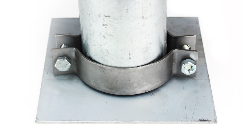Galvanised Sign Post and Base Plate