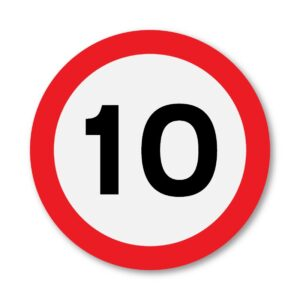 10 MPH Speed Limit Sign for Posts
