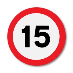 15 MPH Speed Limit Sign for Posts