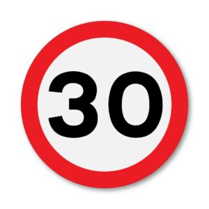 30 MPH Speed Limit Sign for Posts