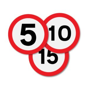 300mm Speed Limit Sign Roundels
