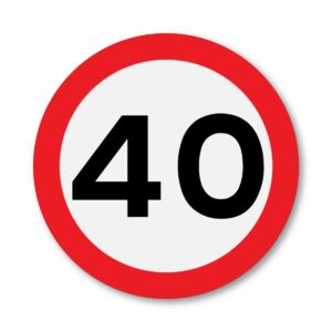 40 MPH Speed Limit Sign for Posts