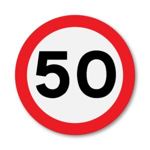 50 MPH Speed Limit Sign for Posts