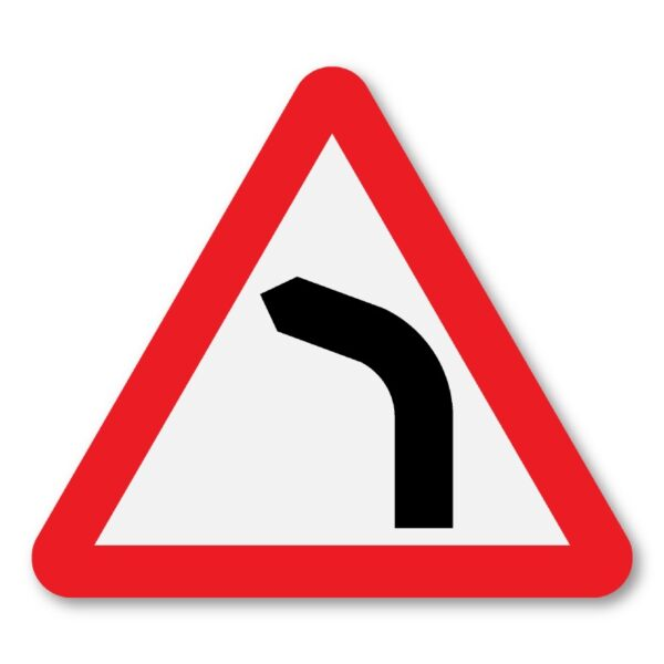 Bend-Ahead-Sign-for-Posts-Left-Turn-diagram-512