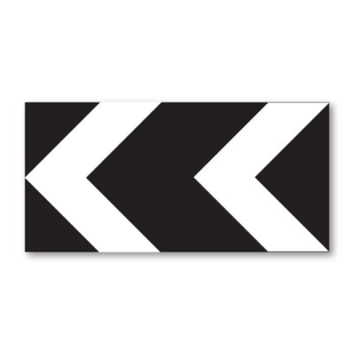 Black-and-White-Chevron-Sign-for-Posts-diagram-515