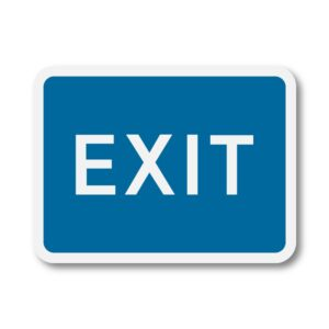 Exit Sign for Posts