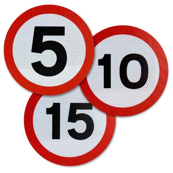 Tennants 300mm Speed Limit Sign Roundels