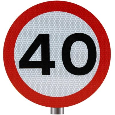 Tennants 40 MPH Speed Limit Sign for Posts