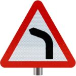 Tennants-Bend-Ahead-Sign-for-Posts-Left-Turn