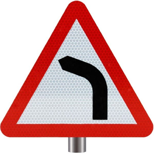 Tennants - Bend Ahead Sign for Posts - Turns Left