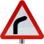 Tennants-Bend-Ahead-Sign-for-Posts-Right-Turn