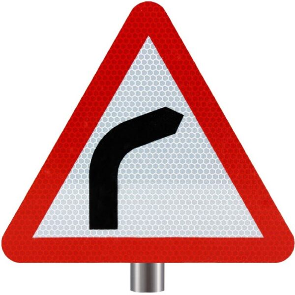 Tennants - Bend Ahead Sign for Posts - Turns Right
