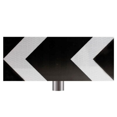 Tennants Black and White Chevron Sign for Posts