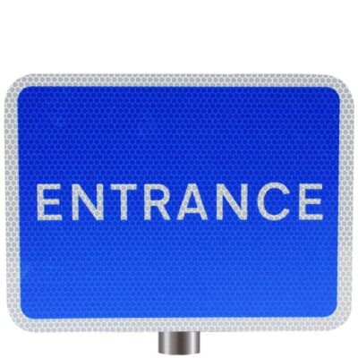 Tennants Blue Entrance Sign for Posts
