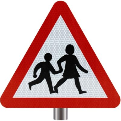 Tennants Children Crossing Sign for Posts