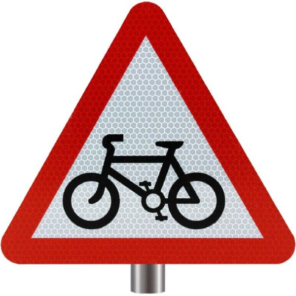 Tennants - Cycle Route Ahead Sign for Posts