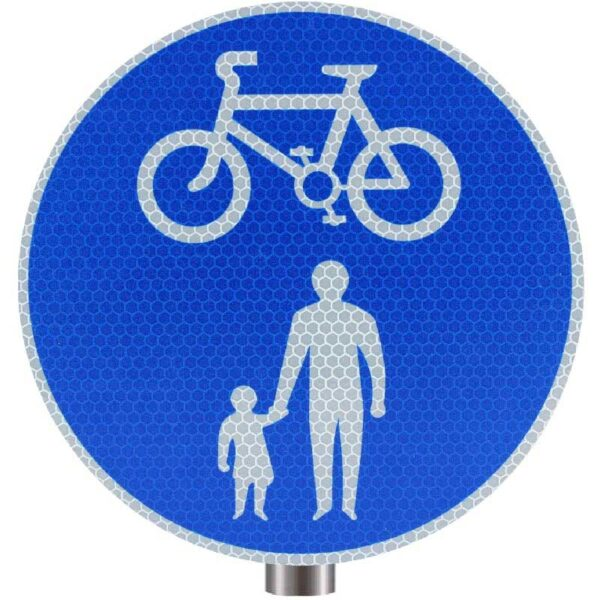 Tennants Cycle and Pedestrian Sign for Posts