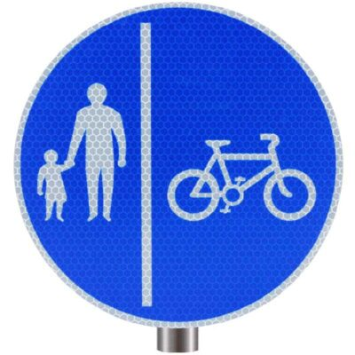 Tennants Cyclists Keep Right Sign for Posts