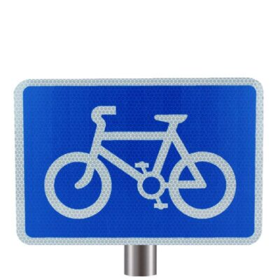 Tennants Cyclists on Road Sign for Posts