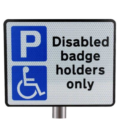 Tennants Disabled Badge Holders Sign for Posts