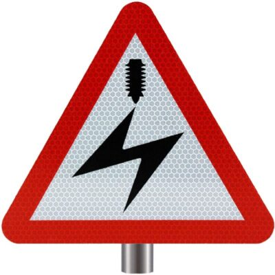 Tennants - Electrified Cable Overhead Sign for Posts