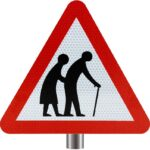 Tennants-Frail-or-Disabled-Pedestrians-Sign-for-Posts