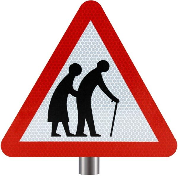 Tennants Frail or Disabled Pedestrians Sign for Posts