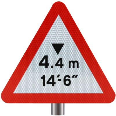 Tennants - Headroom Warning Sign for Posts