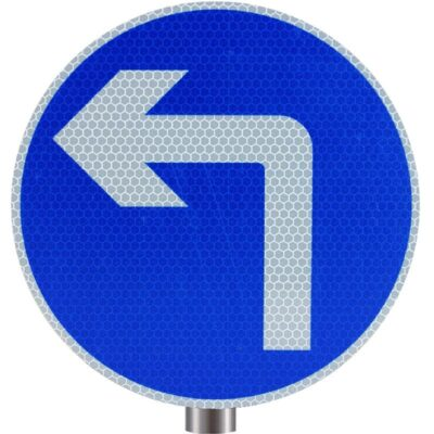 Tennants - Left Ahead Only Sign for Posts