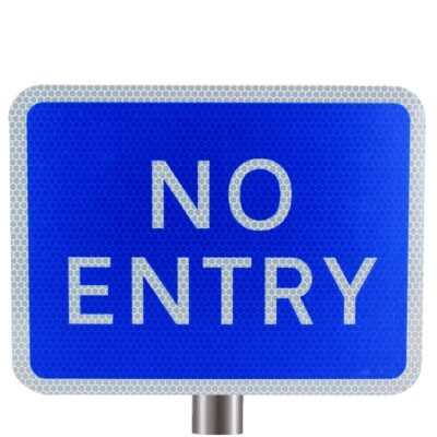 Tennants - Blue No Entry Sign for Posts