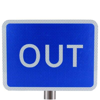 Tennants - Blue Out Sign for Posts