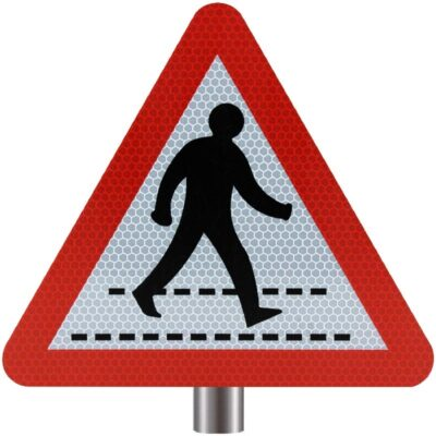 Tennants Pedestrian Crossing Sign for Posts