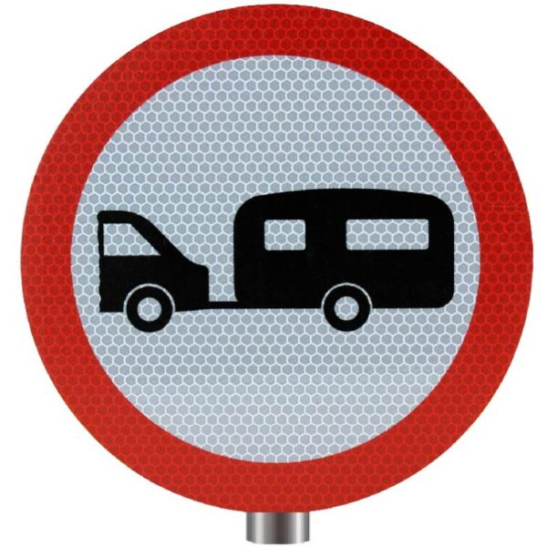Tennants Towed Caravans Prohibited Sign for Posts